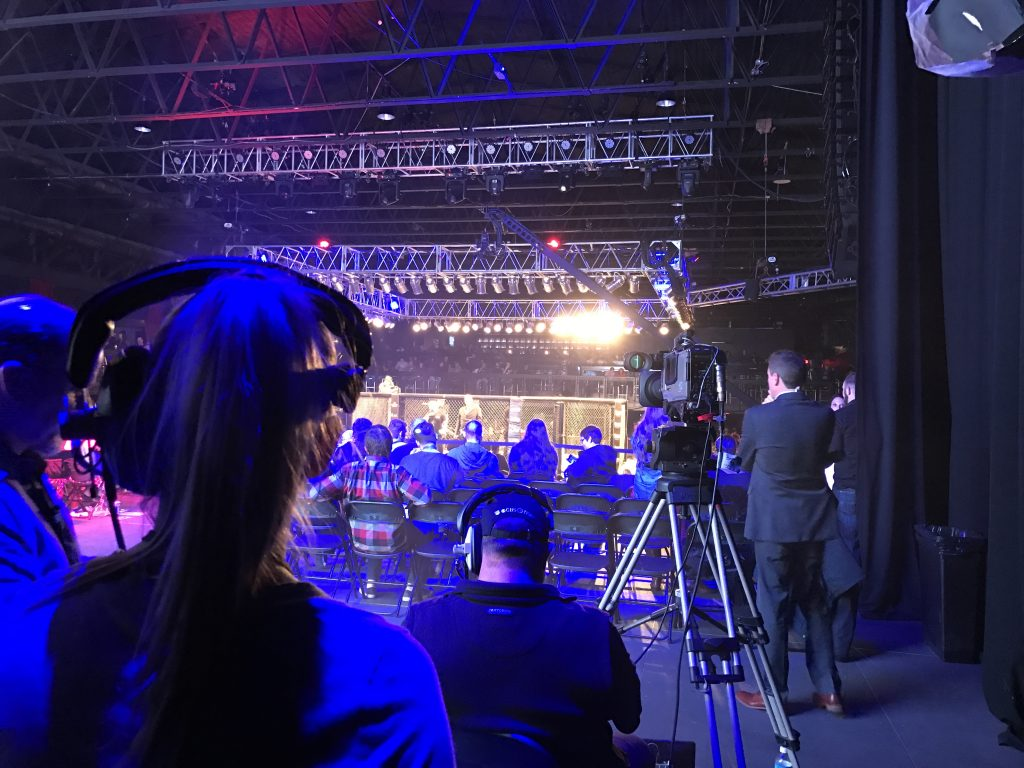 Backstage, LFA staff keep on eye on the whole event.